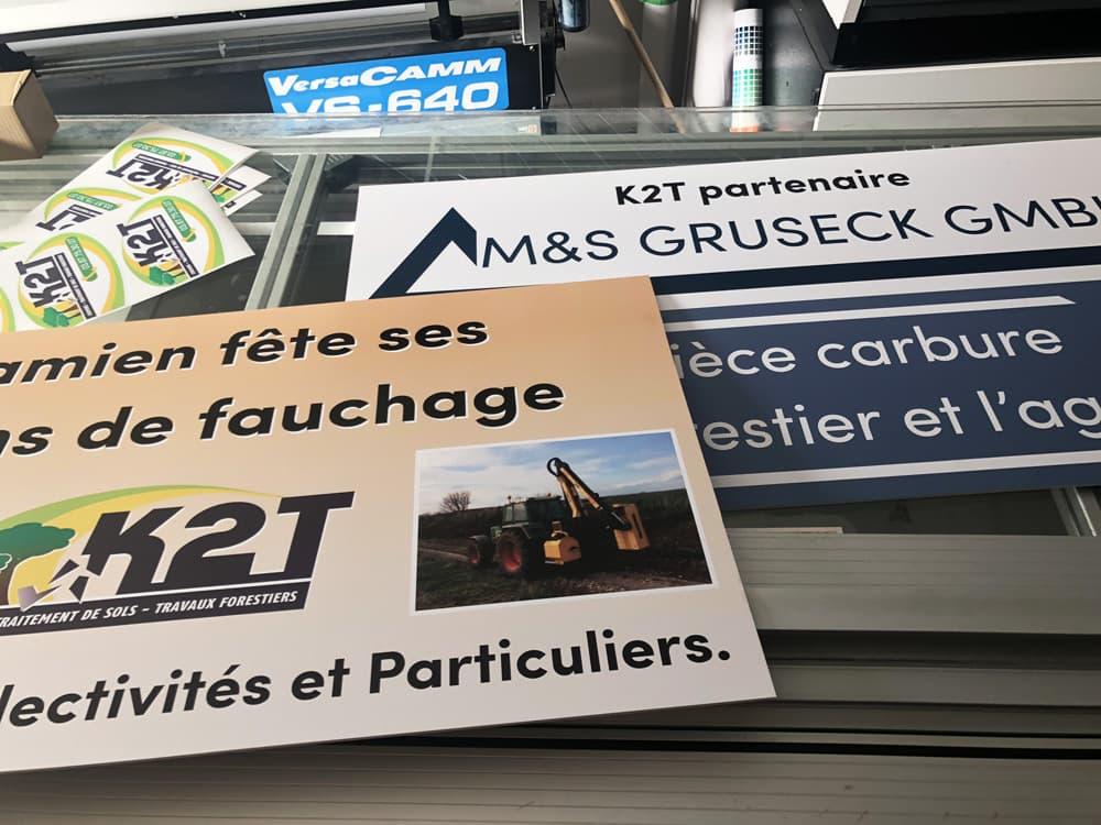 Impression panneaux alu dibond sur Metz